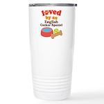 English Cocker Spaniel Dog Gift Ceramic Travel Mug