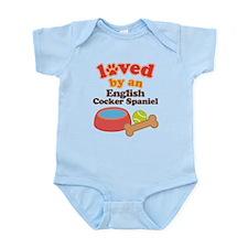 English Cocker Spaniel Dog Gift Infant Bodysuit
