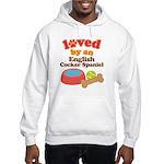 English Cocker Spaniel Dog Gift Hooded Sweatshirt