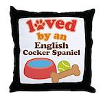 English Cocker Spaniel Dog Gift Throw Pillow