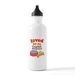 English Shepherd Dog Gift Stainless Water Bottle 1