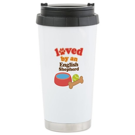 English Shepherd Dog Gift Ceramic Travel Mug