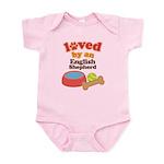English Shepherd Dog Gift Infant Bodysuit