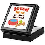 English Shepherd Dog Gift Keepsake Box
