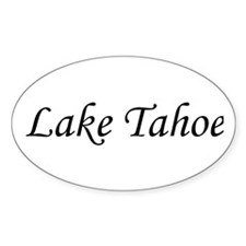 Lake Tahoe Oval Decal