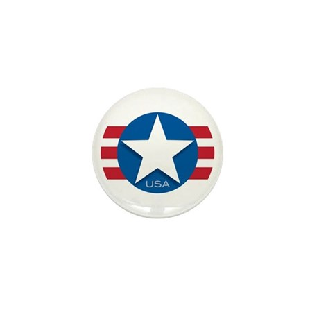 USA Classic Star: Mini Button (10 pack)