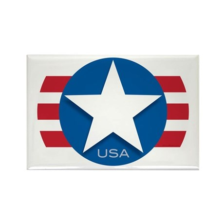 USA Classic Star: Rectangle Magnet (10 pack)