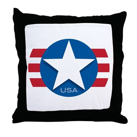 USA Classic Star: Throw Pillow