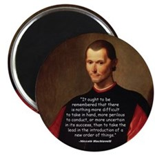 Machiavelli Lead Quote Magnet