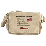 American Values: Fire Obama Messenger Bag