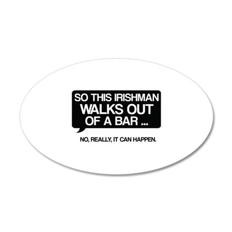 Irishman 38.5 x 24.5 Oval Wall Peel