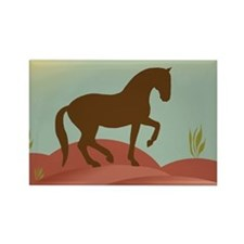 desert dressage Rectangle Magnet (10 pack)