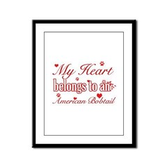 Cool American bobtail Cat breed designs Framed Pan