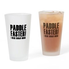 Paddle Faster ! Drinking Glass