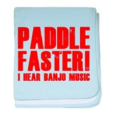 Paddle Faster ! baby blanket