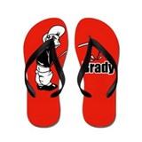 Piss on Brady Flip Flop designs Flip Flops