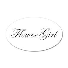 Flower Girl.png 22x14 Oval Wall Peel