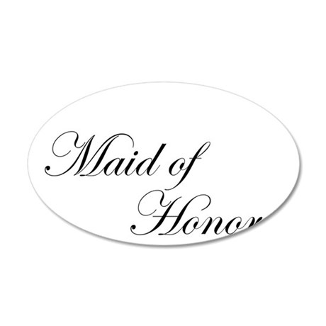Maid of Honor.png 38.5 x 24.5 Oval Wall Peel