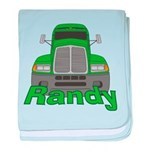 Trucker Randy baby blanket