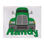 Trucker Randy Throw Blanket