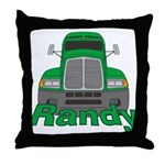 Trucker Randy Throw Pillow