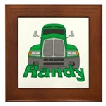 Trucker Randy Framed Tile