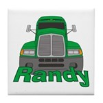 Trucker Randy Tile Coaster