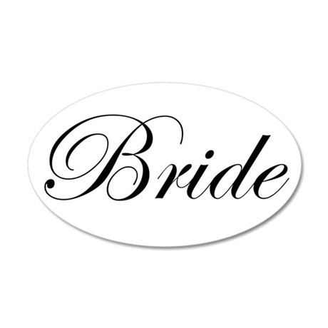 Bride.png 22x14 Oval Wall Peel