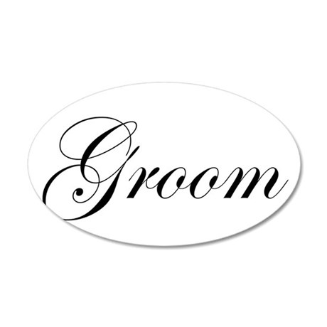 Groom.png 22x14 Oval Wall Peel