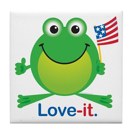 Love-it Frog Tile Coaster