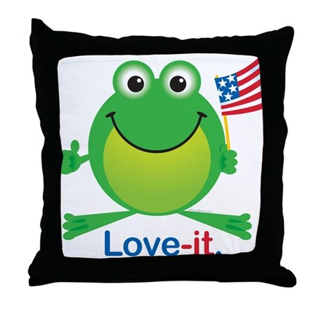 Love-it Frog Throw Pillow