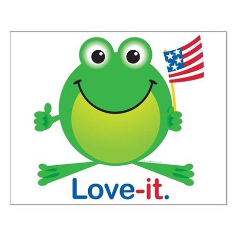 Love-it Frog Small Poster