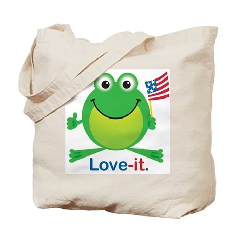 Love-it Frog Tote Bag