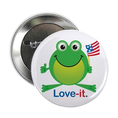 "Love-it Frog 2.25"" Button (10 pack)"