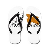 Sand Dollar Starfish Bridesmaid.png Flip Flops