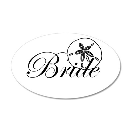 Sand Dollar Bride.png 22x14 Oval Wall Peel