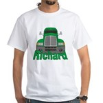 Trucker Richard White T-Shirt