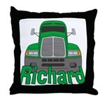 Trucker Richard Throw Pillow