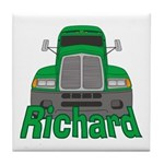 Trucker Richard Tile Coaster