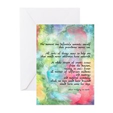 Inspirational Goethe Quote Greeting Cards (Package