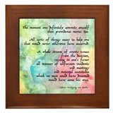 Inspirational Goethe Quote Framed Tile