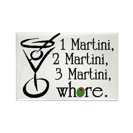 Martini Rectangle Magnet (10 pack)