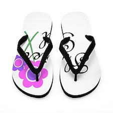 Purple Daisy Flower Girl.png Flip Flops