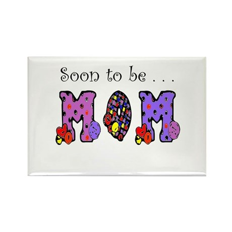 Soon to be MOM Rectangle Magnet (100 pack)