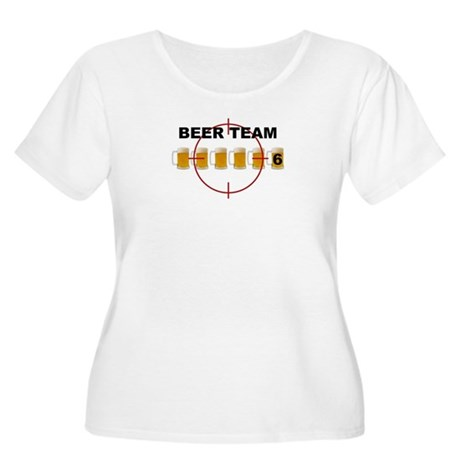 Beer Team 6 Logo Women's Plus Size Scoop Neck T-Sh