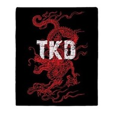 Taekwondo Dragon Throw Blanket