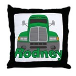 Trucker Rodney Throw Pillow