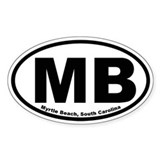 Myrtle Beach Oval Decal
