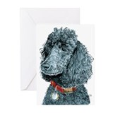 Black Poodle Whitney Greeting Cards (Pk of 10)