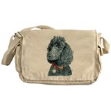 Black Poodle Whitney Messenger Bag